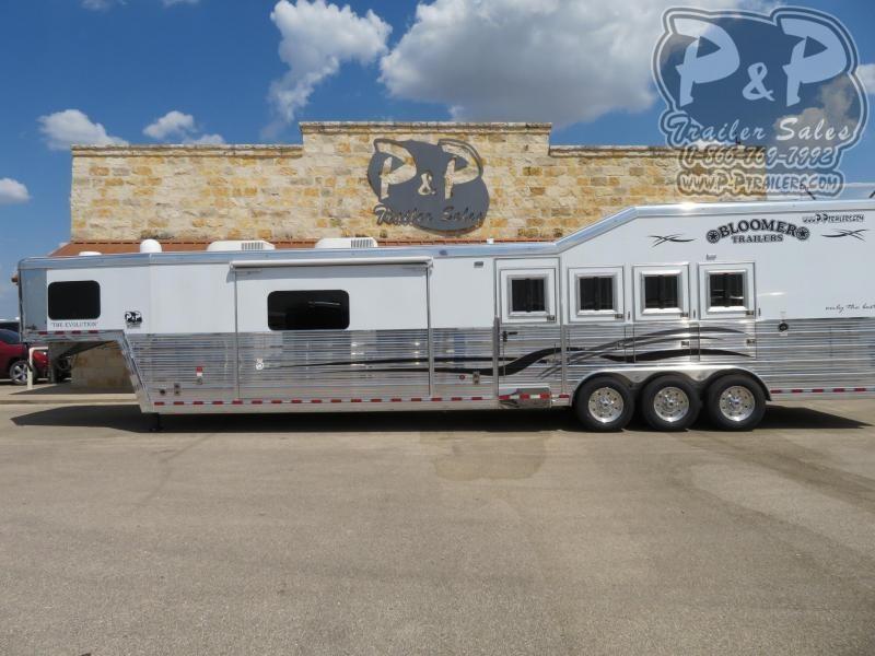 2020 Bloomer 8417PCOL 4 Horse Slant Load Trailer 17 FT LQ With Slides w/ Ramps