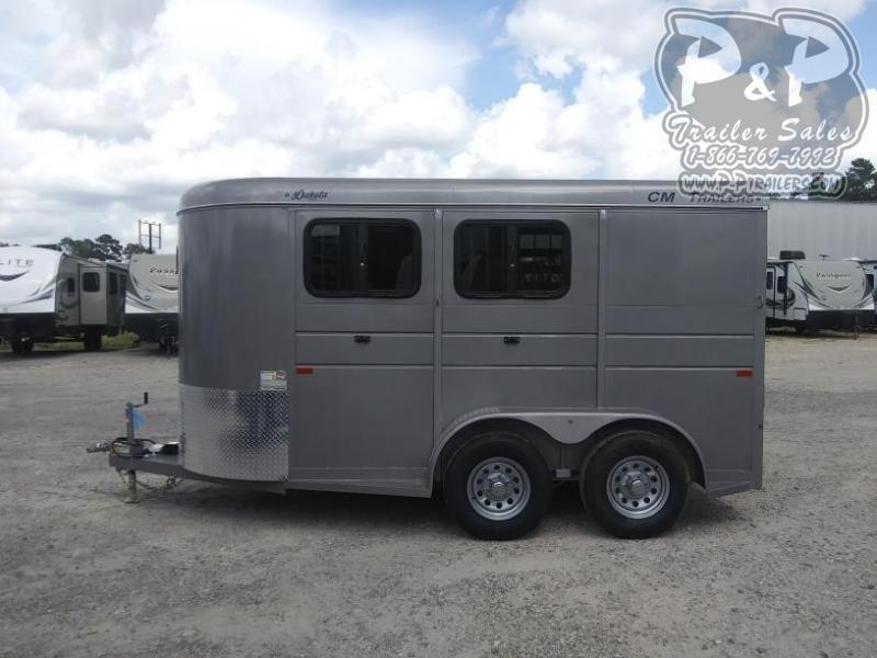 2020 CM Dakota 2H 14x6'x6'6 2 Horse Slant Load Trailer