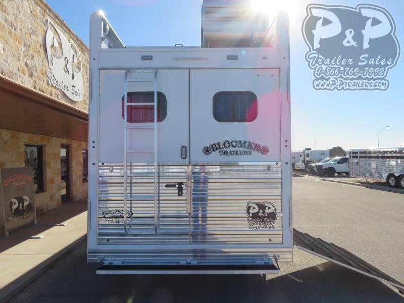 "2020 Bloomer 8518PCOL 5 Horse Slant Load Trailer 17'9"" FT LQ With Slides w/ Ramps"