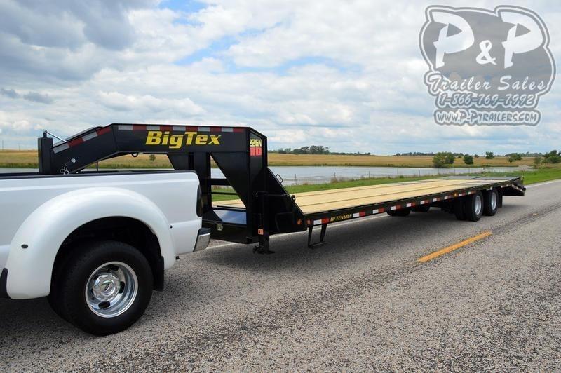 2020 Big Tex Trailers 22GN-25BK+5MR 30 ft Flatbed Trailer