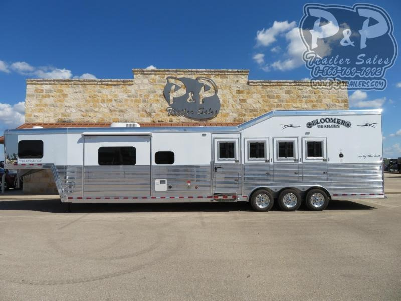 2020 Bloomer 8415PCOL 4 Horse Slant Load Trailer 15 FT LQ With Slides w/ Ramps