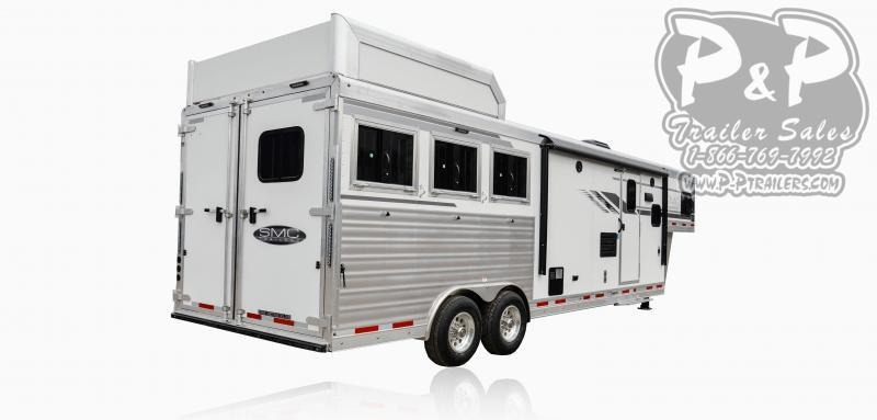 2020 SMC Horse Trailers SL8X11SFK LARAMIE 3 Horse Slant Load Trailer 11 FT LQ With Slides