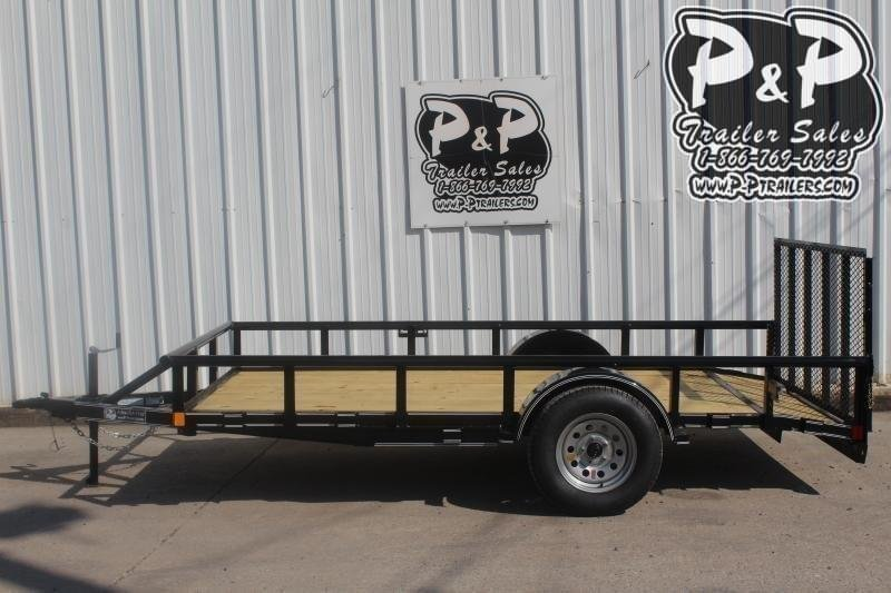 2020 P and P PPSA12X72LDRGPTDT 12 ft Utility Trailer