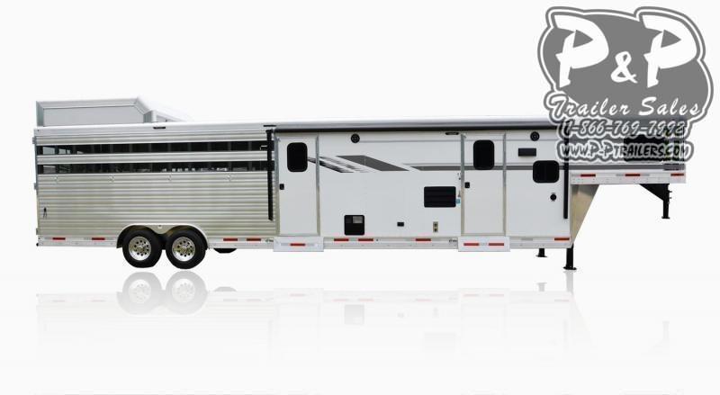 2020 SMC Horse Trailers SLE8X11SFK LARAMIE 11FT Livestock Trailer LQ