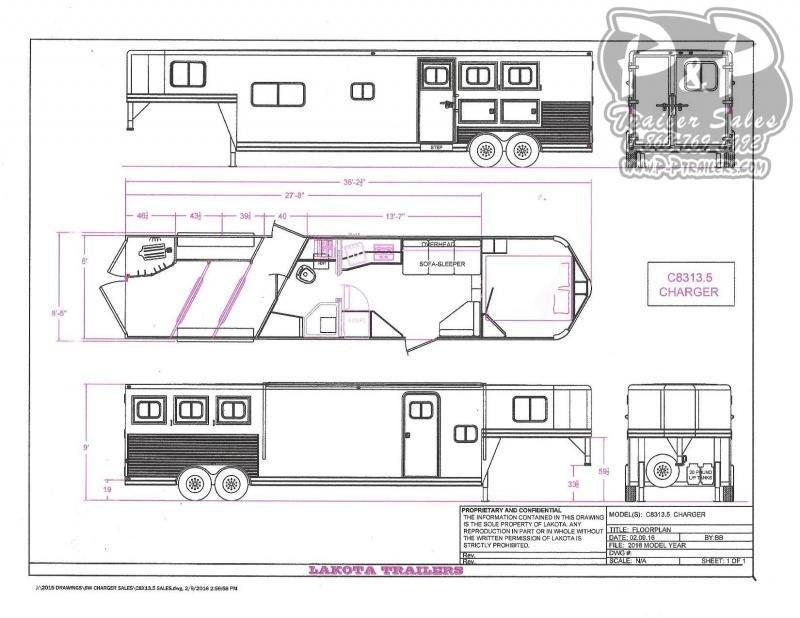 2020 Lakota Charger C8313.5NS 3 Horse Slant Load Trailer 13.5 FT LQ w/ Ramps