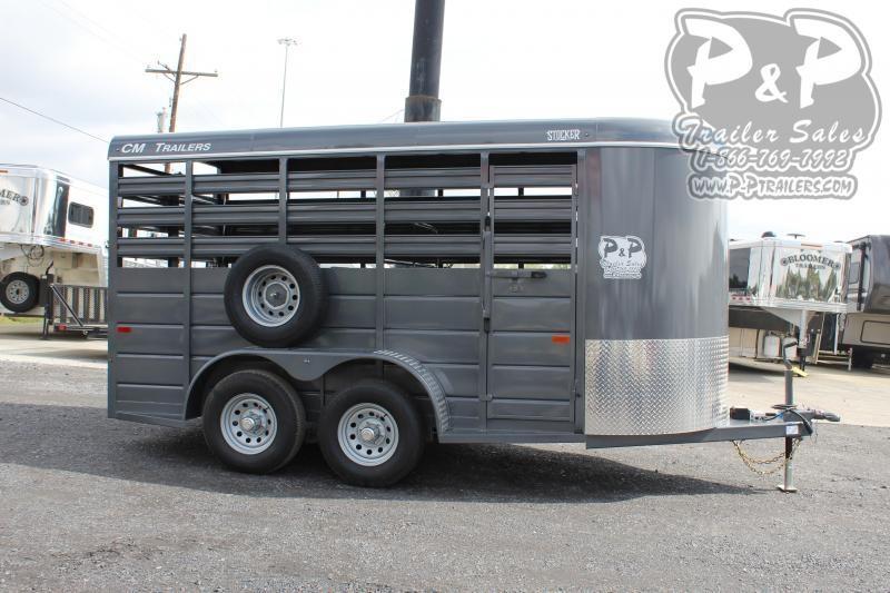 2020 CM CMS6630-1400235 14 ft Livestock Trailer