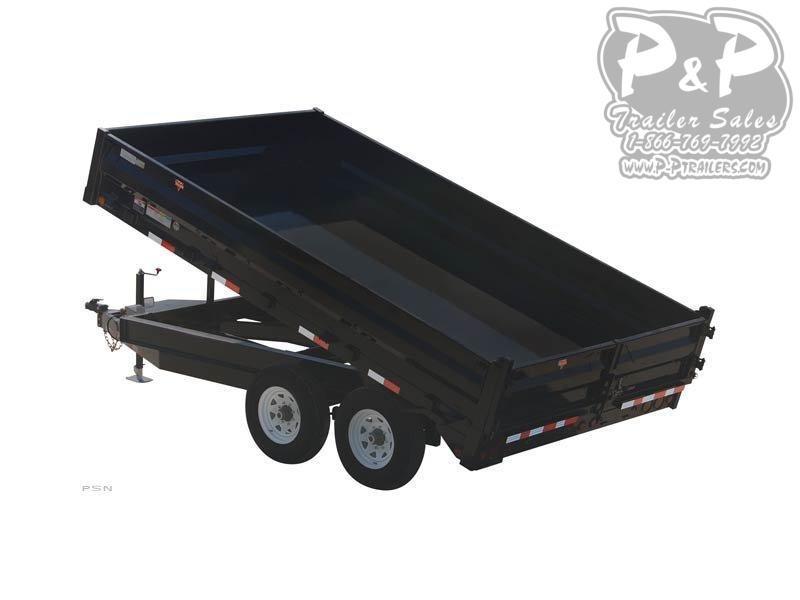 2020 PJ Trailers 96 in. Deckover Dump (D8) Dump Trailer