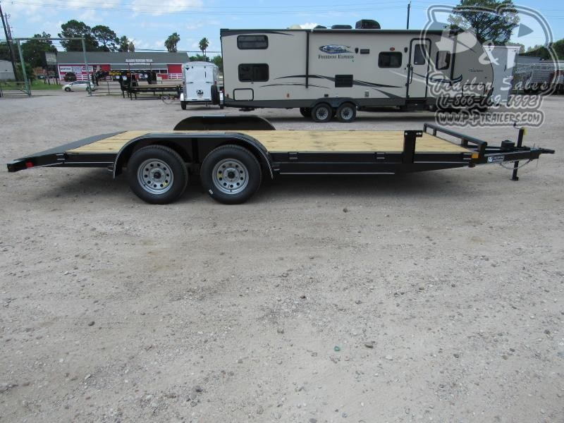 2020 P and P 83 X 18 Wood Floor Car Hauler 18 ft Utility Trailer