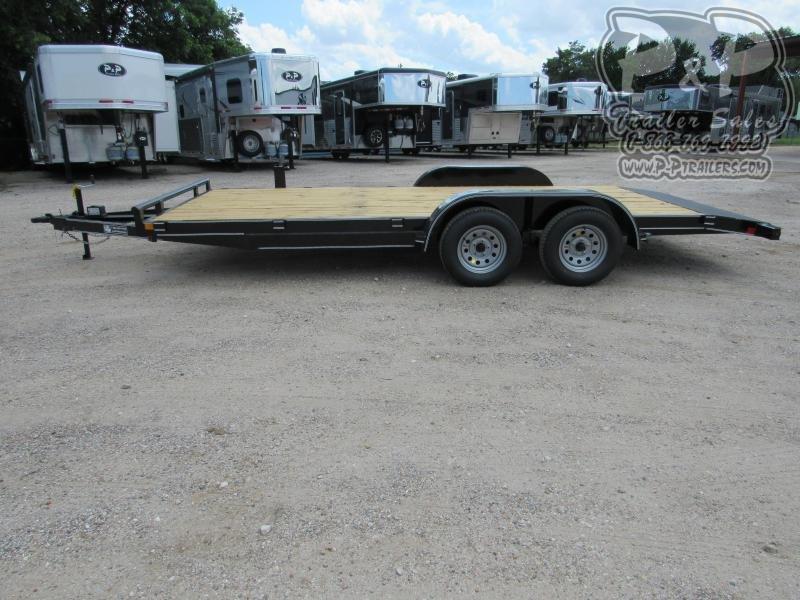 2020 P and P 83 X 18 Wood Floor Car Hauler 18 ft Utility Trailer