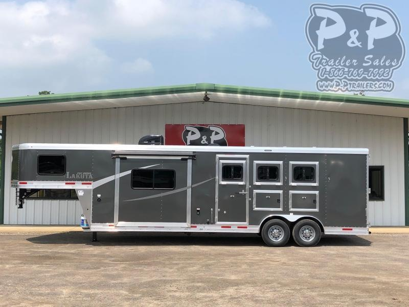 2020 Lakota AC8311 3 Horse Slant Load Trailer 11 FT LQ With Slides