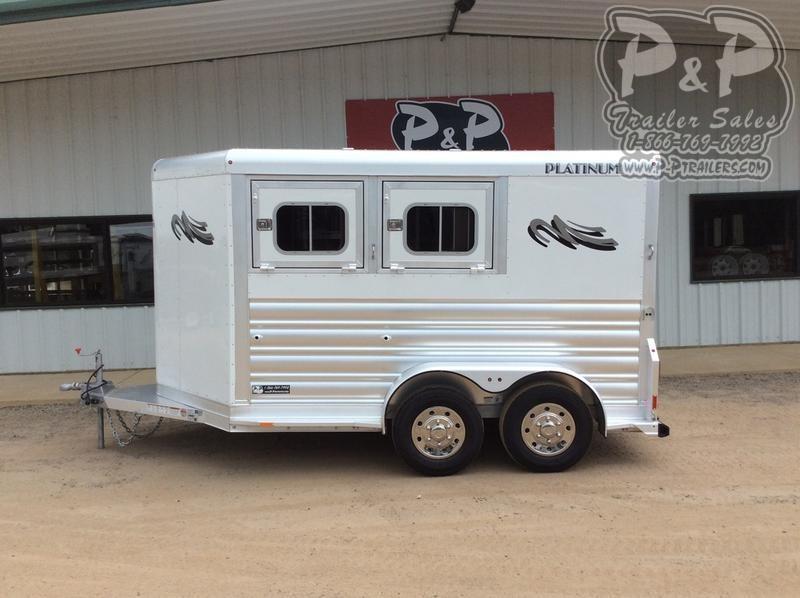 2020 Platinum Coach 72bp 2 Horse Slant Load Trailer