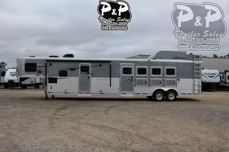 2020 Lakota Charger C8415BBRSL 4 Horse Slant Load Trailer 15 FT LQ With Slides w/ Ramps