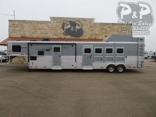 2020 Lakota Charger C8415BBRSL w/ Bunks 4 Horse Slant Load Trailer 15 FT LQ With Slides w/ Ramps