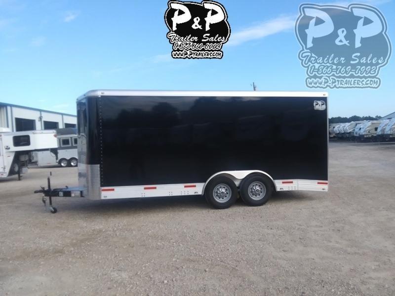 2020 P and P Enclosed Car Haulers 20' Car Hauler 20 ft Enclosed Cargo Trailer