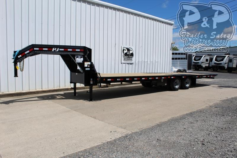 2020 PJ Trailers LY322 Gooseneck 32' Flatbed Trailer