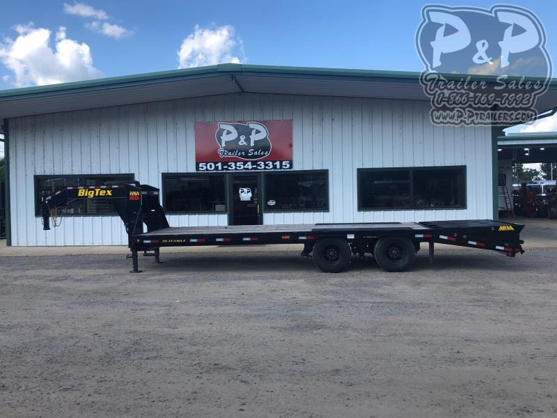 2020 Big Tex Trailers 22GN-20BK+5MR 25 ft Flatbed Trailer