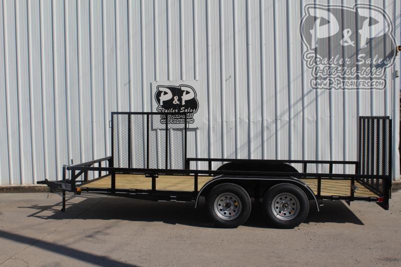 2020 P and P PPTA16X83GDRGPTSG 16 ft Utility Trailer