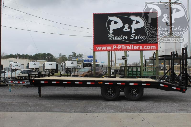 2020 PJ Trailers F8J2072BSBKMR 20 ft Flatbed Trailer