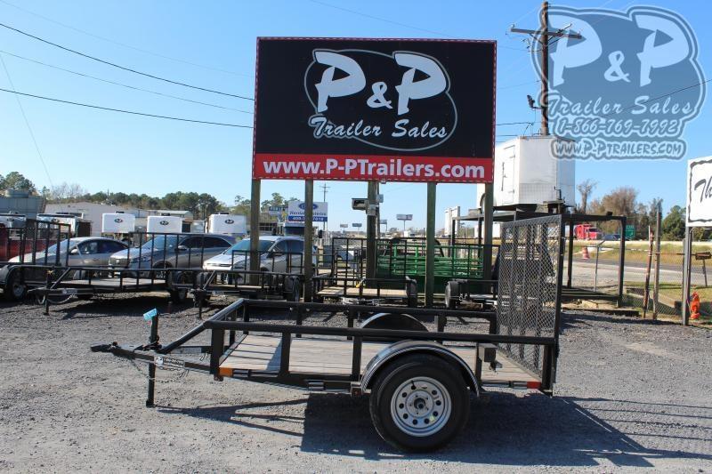 2019 P and P PPSA08X60LDRGPT 8 ft Utility Trailer