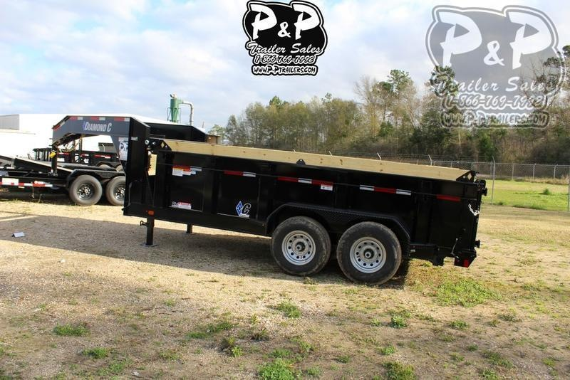 "2020 Diamond C Trailers LPD 14' x 82"" 14 ft Dump Trailer"