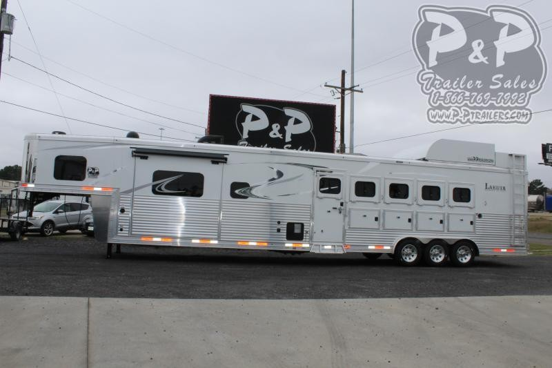 2020 Lakota Bighorn BH8515TDSRKRSL 5 Horse Slant Load Trailer 15 FT LQ With Slides w/ Ramps