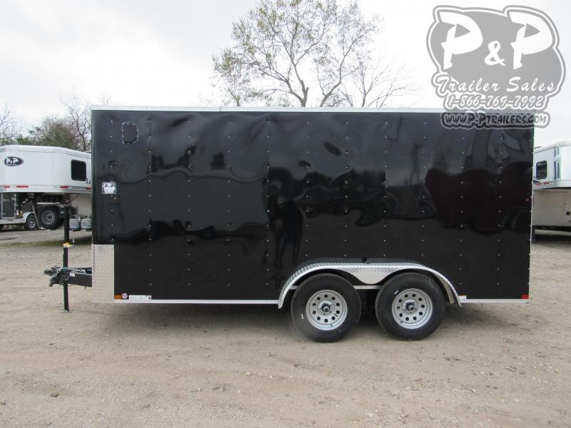 2020 Carry-On 7X16 CGRBN 16 ft Enclosed Cargo Trailer