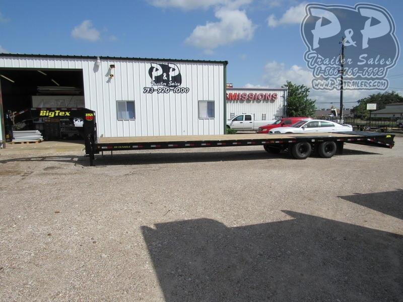2020 Big Tex Trailers 22GN-35BK+5MR 40 ft Flatbed Trailer