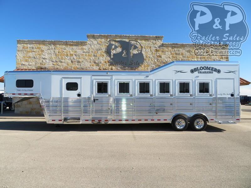 2020 Bloomer 6 Horse Super Tack Trainer 6 Horse Slant Load Trailer w/ Ramps