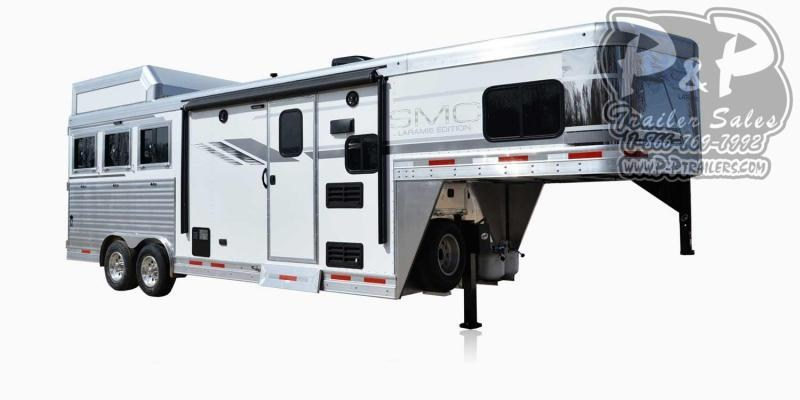 2020 SMC Horse Trailers SL8X8FK LARAMIE 3 Horse Slant Load Trailer 8 FT LQ With Slides
