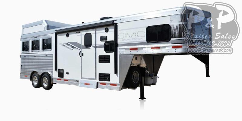 2020 SMC Horse Trailers SL8X8FK LARAMIE 3 Horse Slant Load Trailer 8 FT LQ With Slides