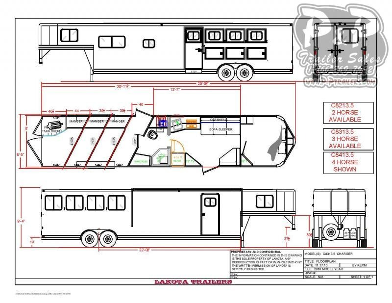 2020 Lakota Charger C8413.5NS 4 Horse Slant Load Trailer 13.5 FT LQ