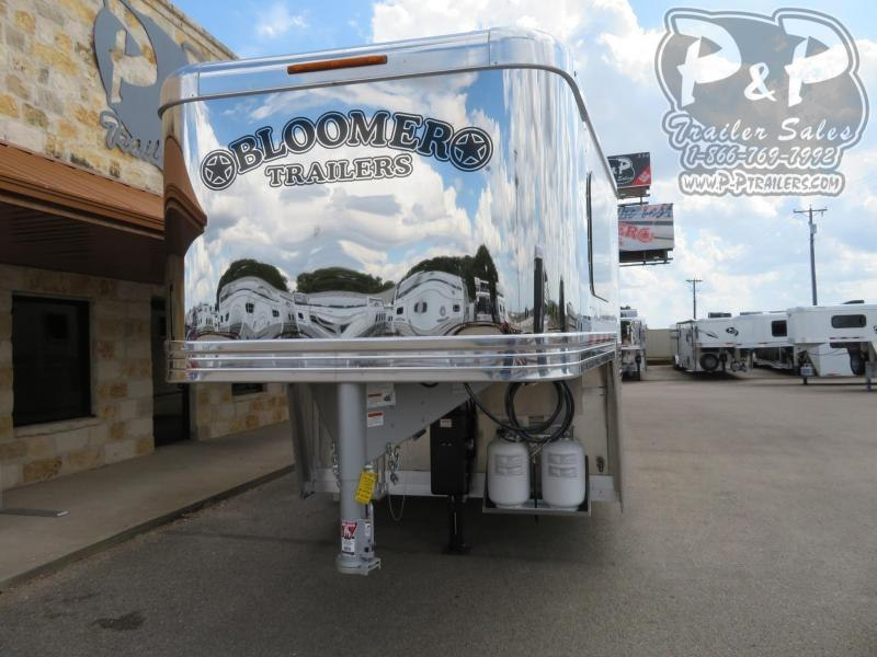 2020 Bloomer 8413OL 4 Horse Slant Load Trailer 13 FT LQ With Slides