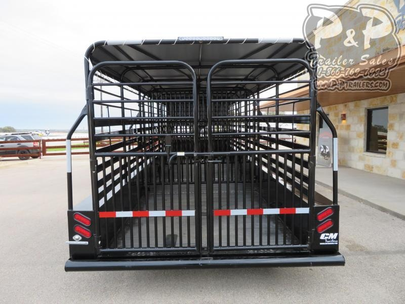 2020 CM CM Trailers CMS9440-24 Brush Buster 24x68x66 24 ft Livestock Trailer