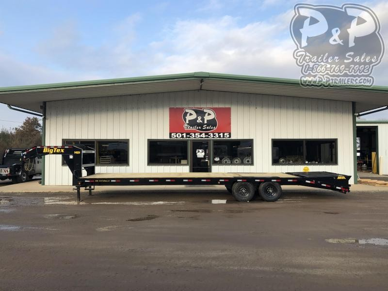 2020 Big Tex Trailers 14GN-25BK5MR 30' Flatbed Trailer