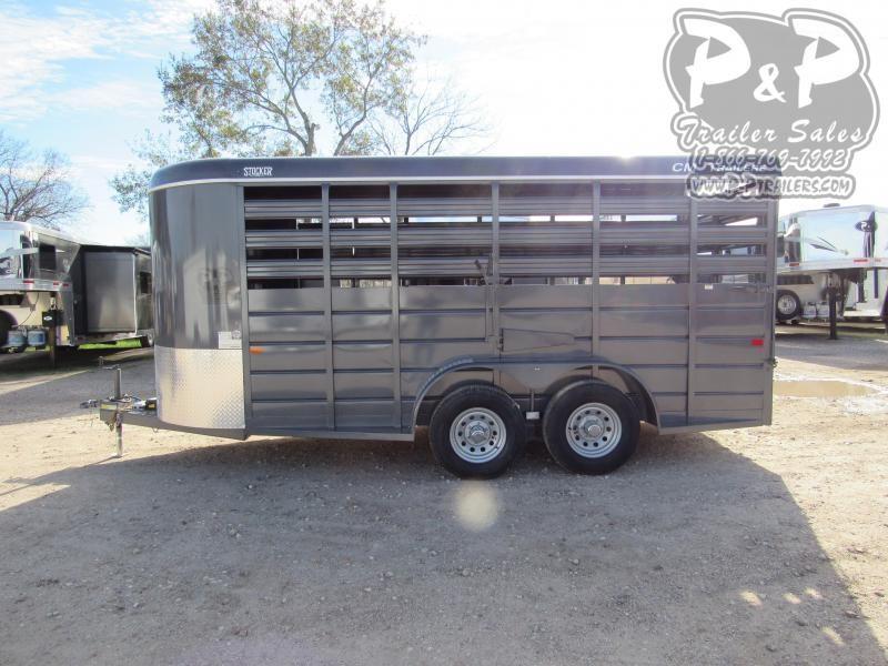 """2020 CM Stocker 16 ft. 6' W x 6' 6"""" T 16 ft Livestock Trailer"""