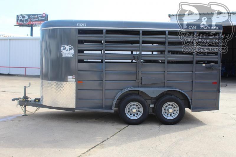 2020 CM Stocker 14 ft. 6' W x 6' 6 14 ft Livestock Trailer