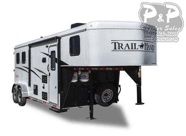 2020 Bison Trailers Trail Hand 7309TH-SO Slide-Out 3 Horse Slant Load Trailer LQ With Slides