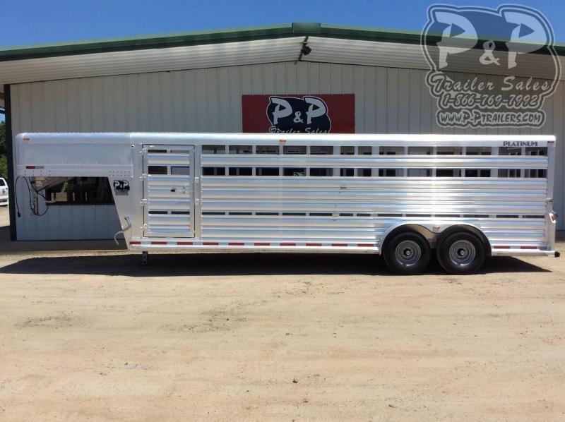 2020 Platinum Coach 724STK 24' Livestock Trailer