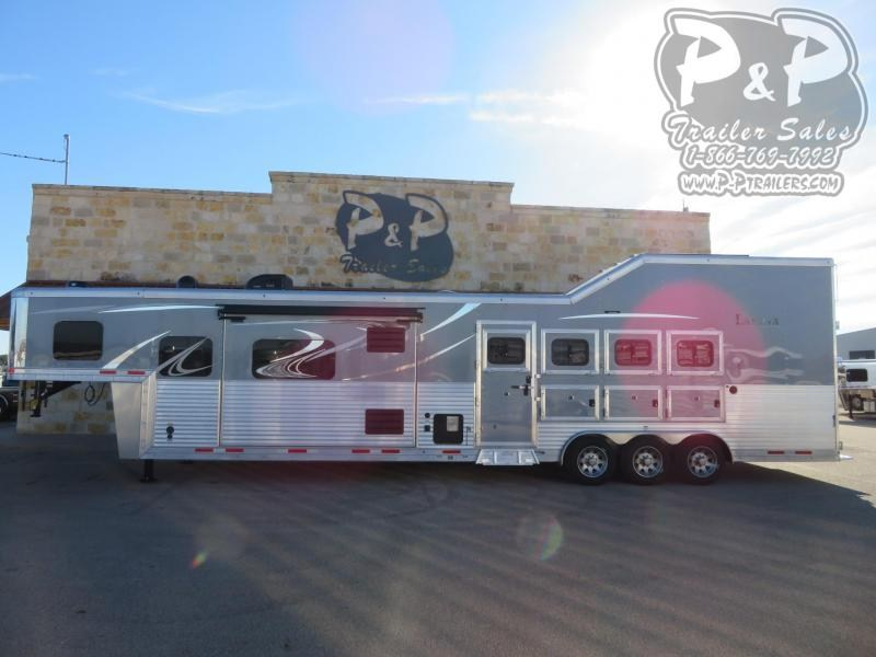 2020 Lakota Bighorn BH8416TSRBRSL 4 Horse Slant Load Trailer 16 FT LQ With Slides w/ Ramps