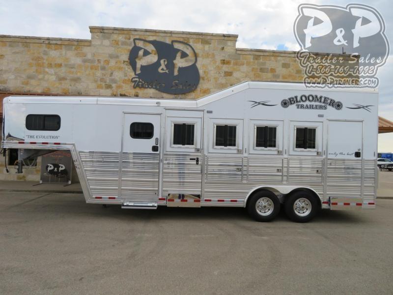 2020 Bloomer 84TRNS 4 Horse Slant Load Trailer w/ Ramps