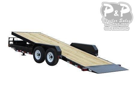 2020 PJ Trailers Powered Full Tilt (TF) Equipment Trailer