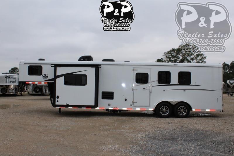 2020 Bison Trailers Trail Hand 7311TH 3 Horse Slant Load Trailer 0 FT LQ With Slides
