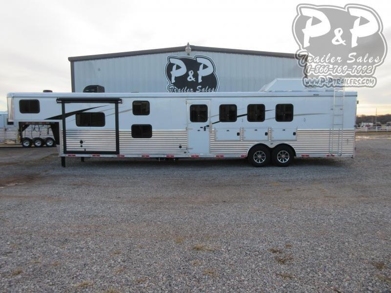 2020 Bison Trailers Ranger 8414RGLBHRSL 4 Horse Slant Load Trailer 14 FT LQ With Slides w/ Ramps