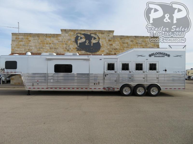 2020 Bloomer PC Load w/ Outlaw Conversions 4 Horse Slant Load Trailer 17 FT LQ With Slides w/ Ramps