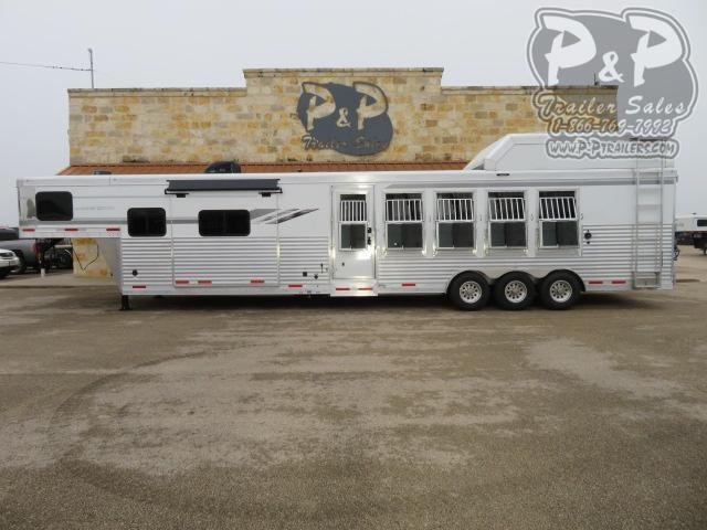 2020 SMC Horse Trailers SL8513SSRT PC Load 5 Horse Slant Load Trailer 13 FT LQ With Slides w/ Ramps