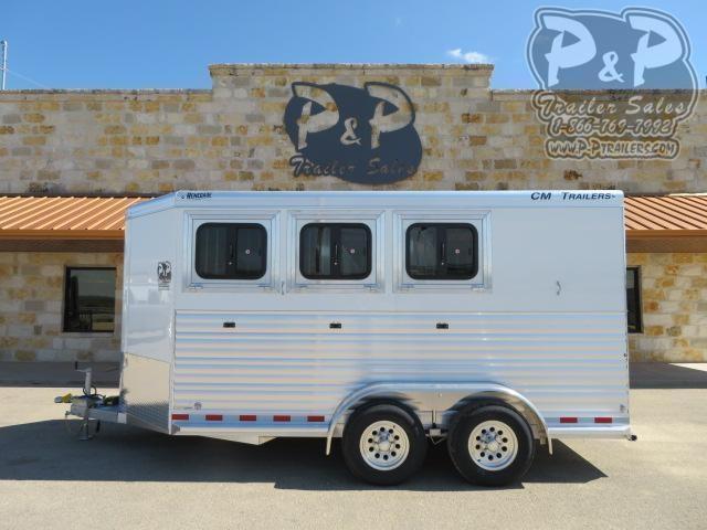 2020 CM CMH5043-16 3H RENEGADE 3 Horse Slant Load Trailer