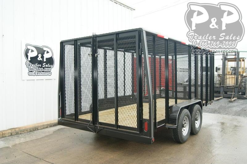 2019 P and P 83X16 Cage Trailer 16 ft Utility Trailer