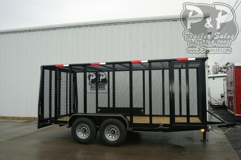 2020 P and P 83X16 Cage Trailer 16 ft Utility Trailer