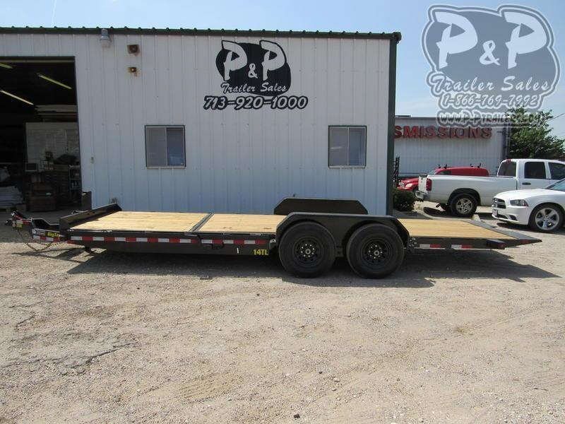 "2020 Big Tex Trailers 80"" X 22' Tilt 16'+6' Sta 22 ft Flatbed Trailer"