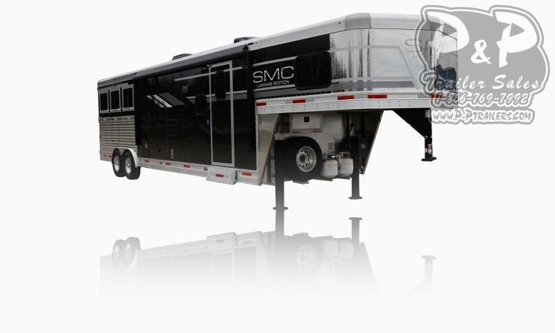 2020 SMC Horse Trailers SL8X13SSR LARAMIE 3 Horse Slant Load Trailer 13 FT LQ With Slides